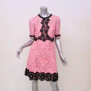 Dolce & Gabbana Lace Dress Pink & Black